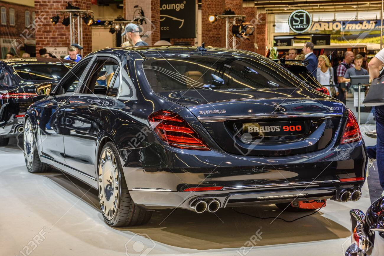 Frankfurt Germany Sept 2019 Dark Blue Mercedes Benz Brabus Stock Photo Picture And Royalty Free Image Image 142584506