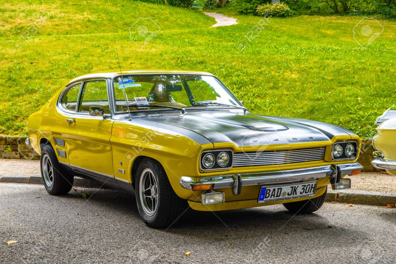 Baden Baden Germany July 2019 Yellow Black Ford Capri Mk Stock Photo Picture And Royalty Free Image Image 142584760