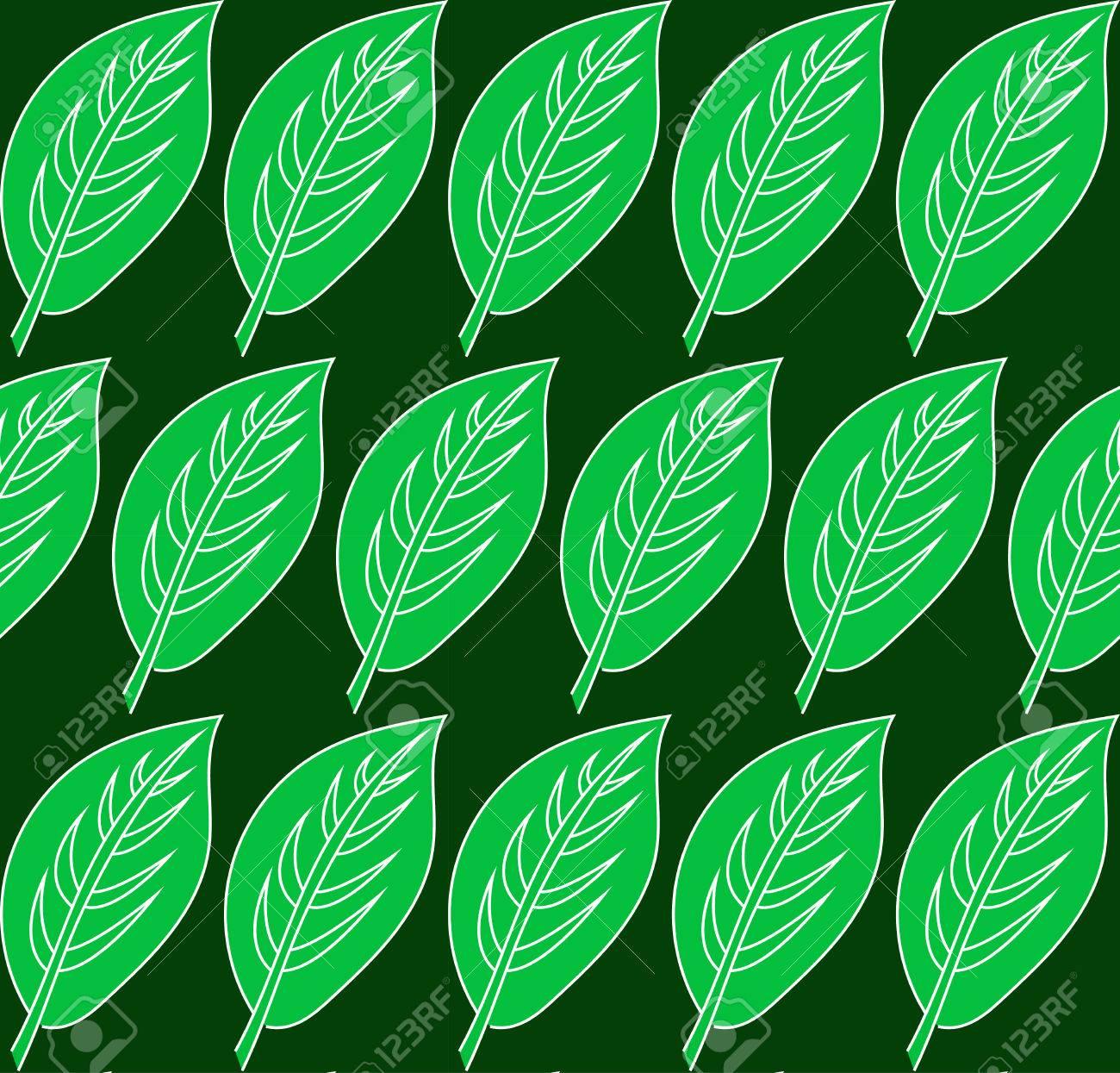 Motif De Feuille Verte Vector Seamless Patterns Peuvent Etre