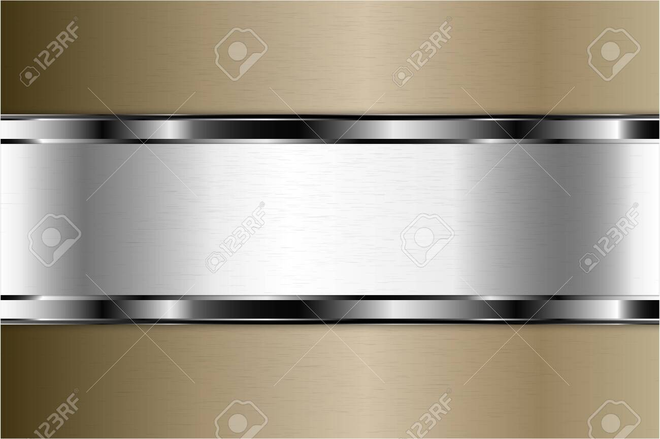 Metallic background. Luxury of gray and brown with silver glossy. Elegant metal modern design. - 152469177