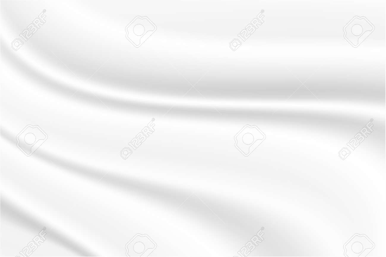 Abstract background luxury white satin silky cloth smooth texture.Vector Illustration - 162440621