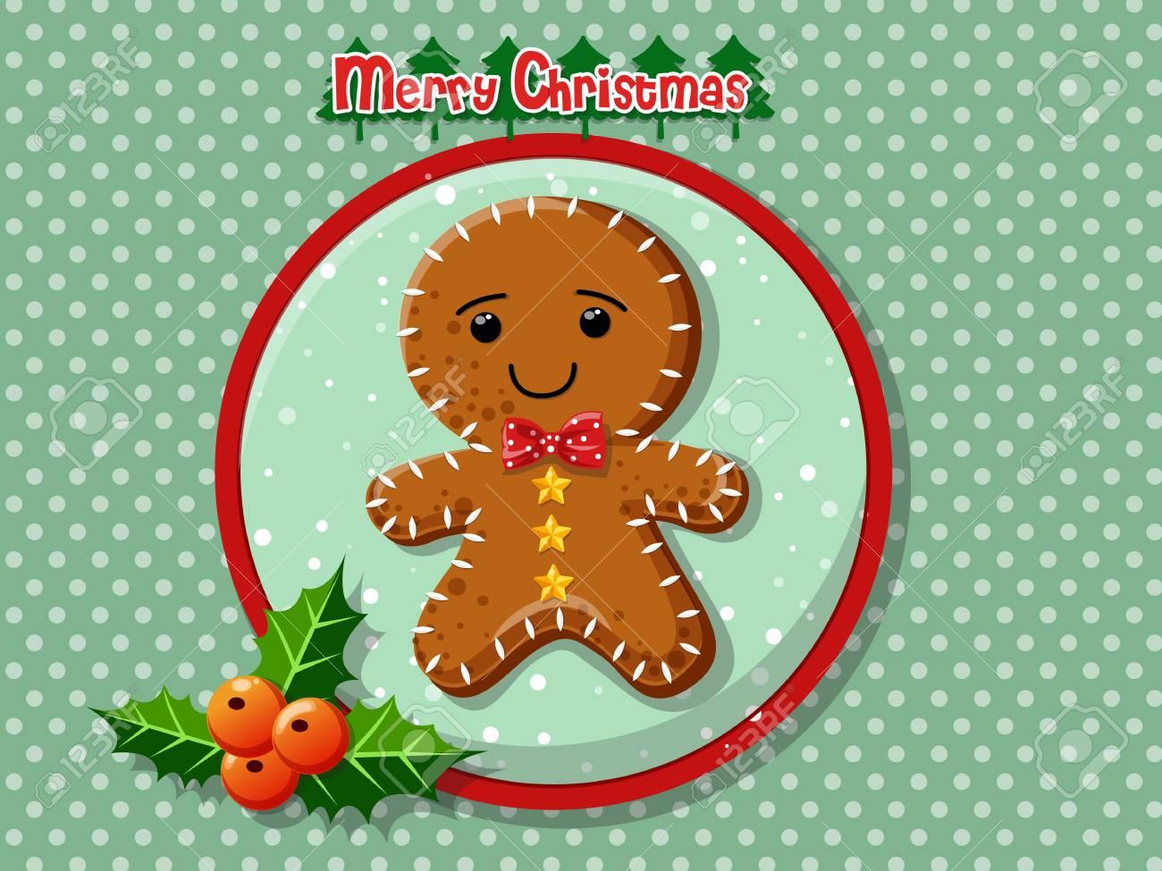 Illustration De Biscuits Bonhomme De Pain D Epice Joyeux Noel Dessin