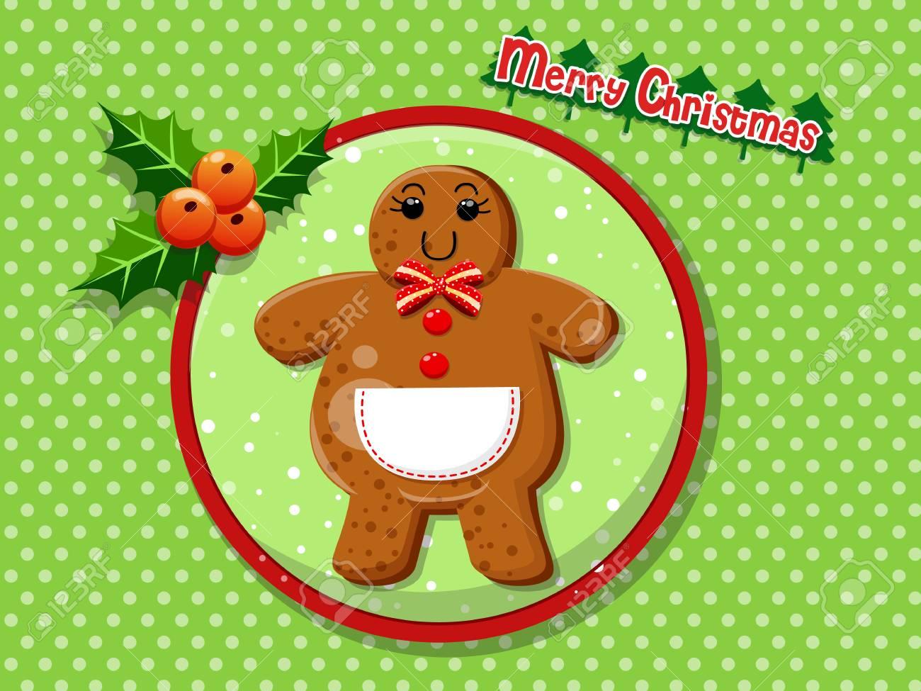 Biscuits De Bonhomme De Pain D Epice Dessin Anime Mignon De Noel Sur