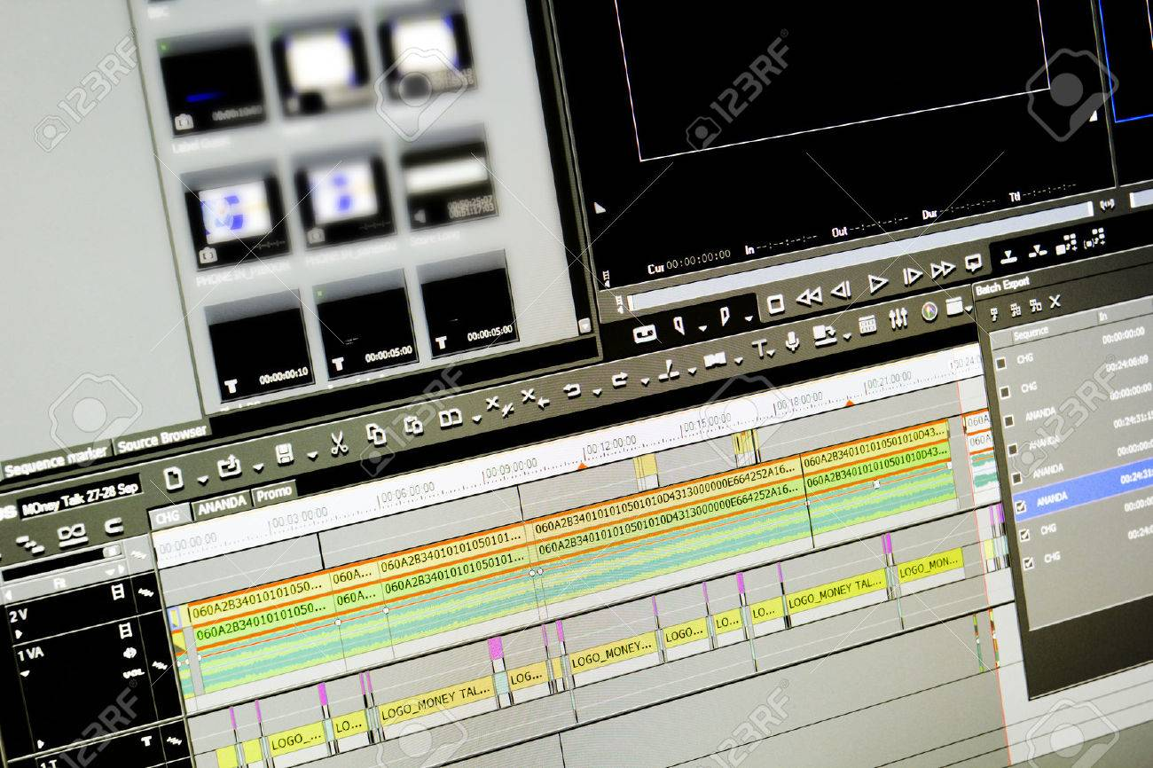 editing images stock pictures royalty editing photos and editing display of program edit video on a monitor stock photo