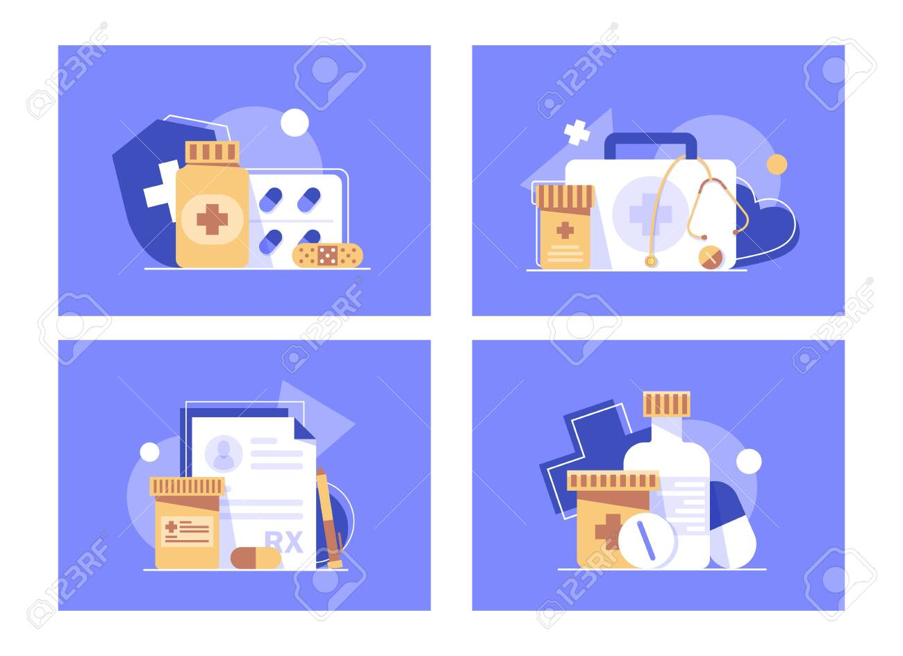 Health Insurance Concept Banner Medicine And Healthcare Flat Royalty Free Cliparts Vectors And Stock Illustration Image 147898018