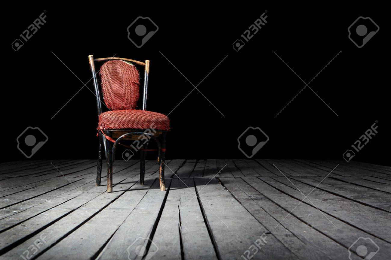 Red chair photography - Red Retro Chair Old Fashioned Red Chair On A Wooden Floor