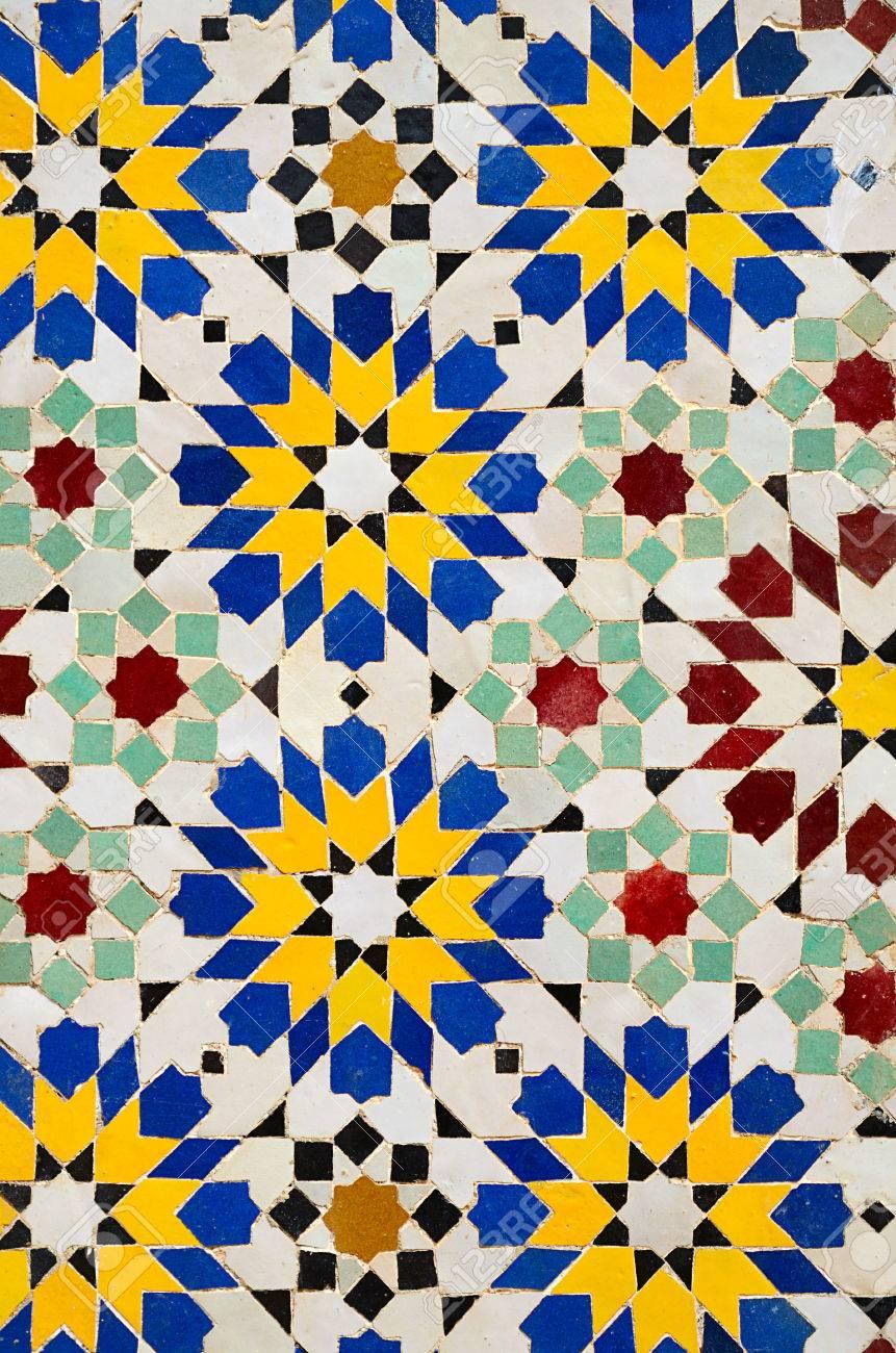 Ongekend Typica Marokkaanse Mozaïek Tegels Achtergrond Royalty-Vrije Foto FO-32