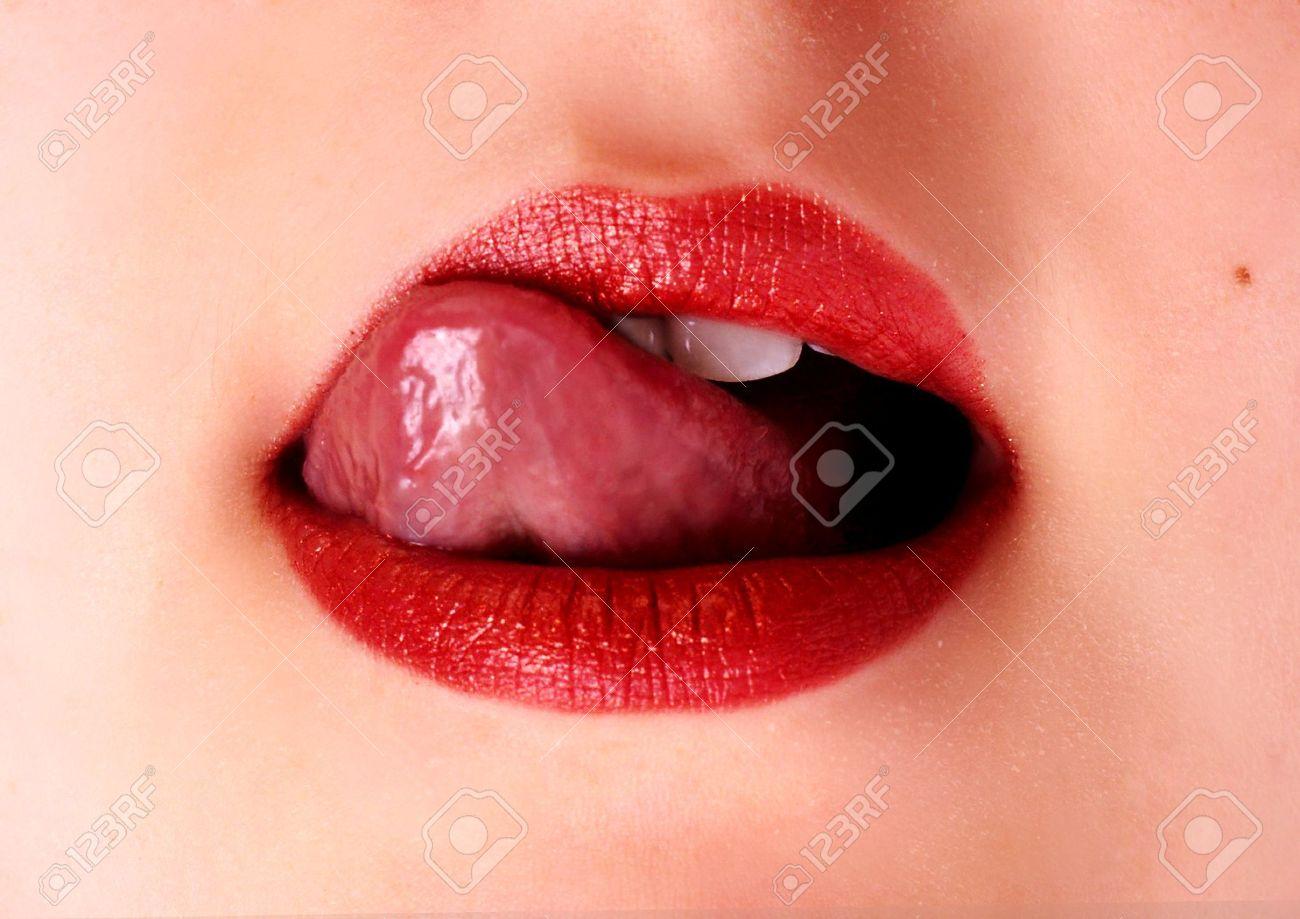 Sexy lips and tongue