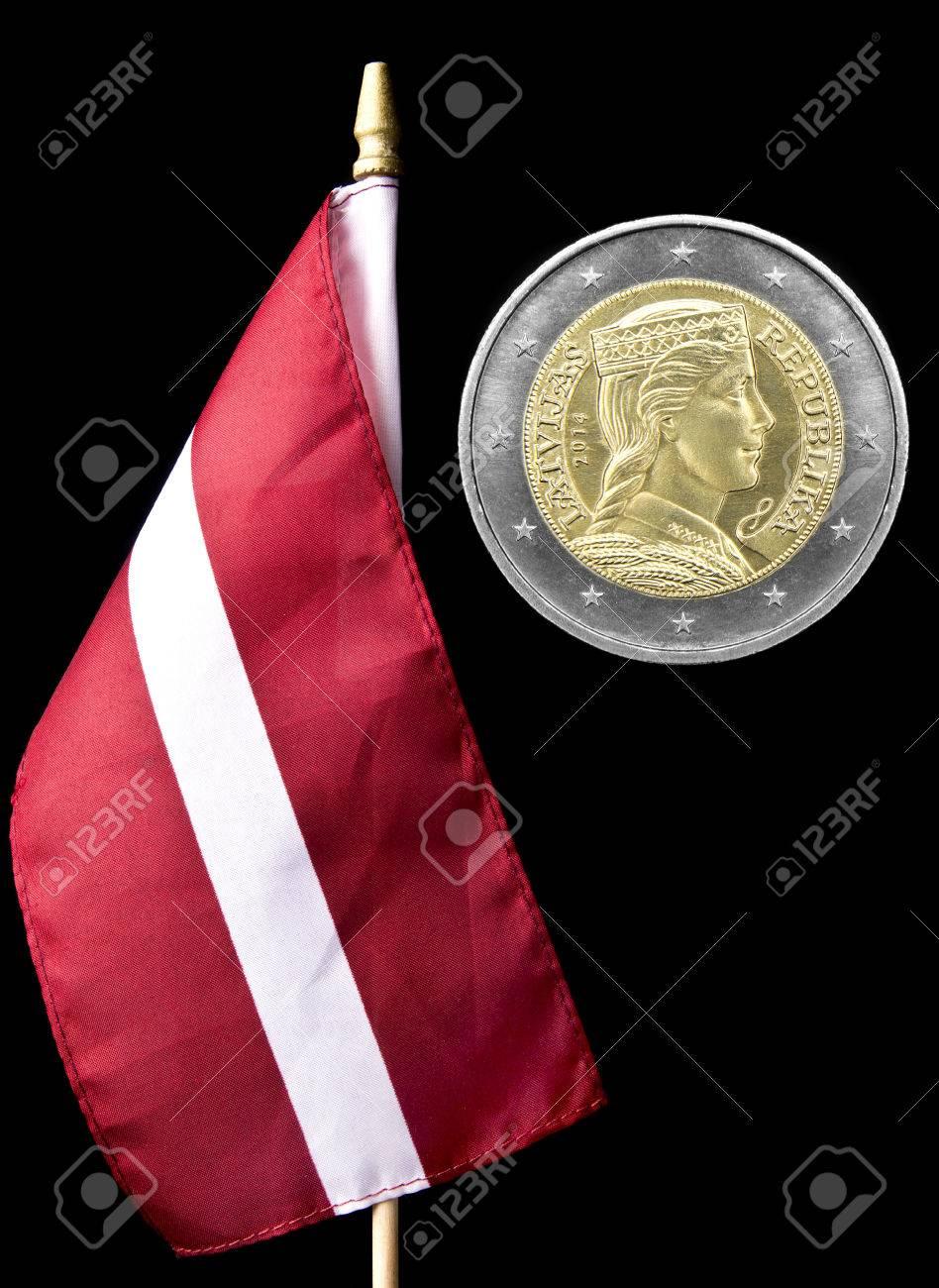 ラトビアとラトビア 2 ユーロ硬...