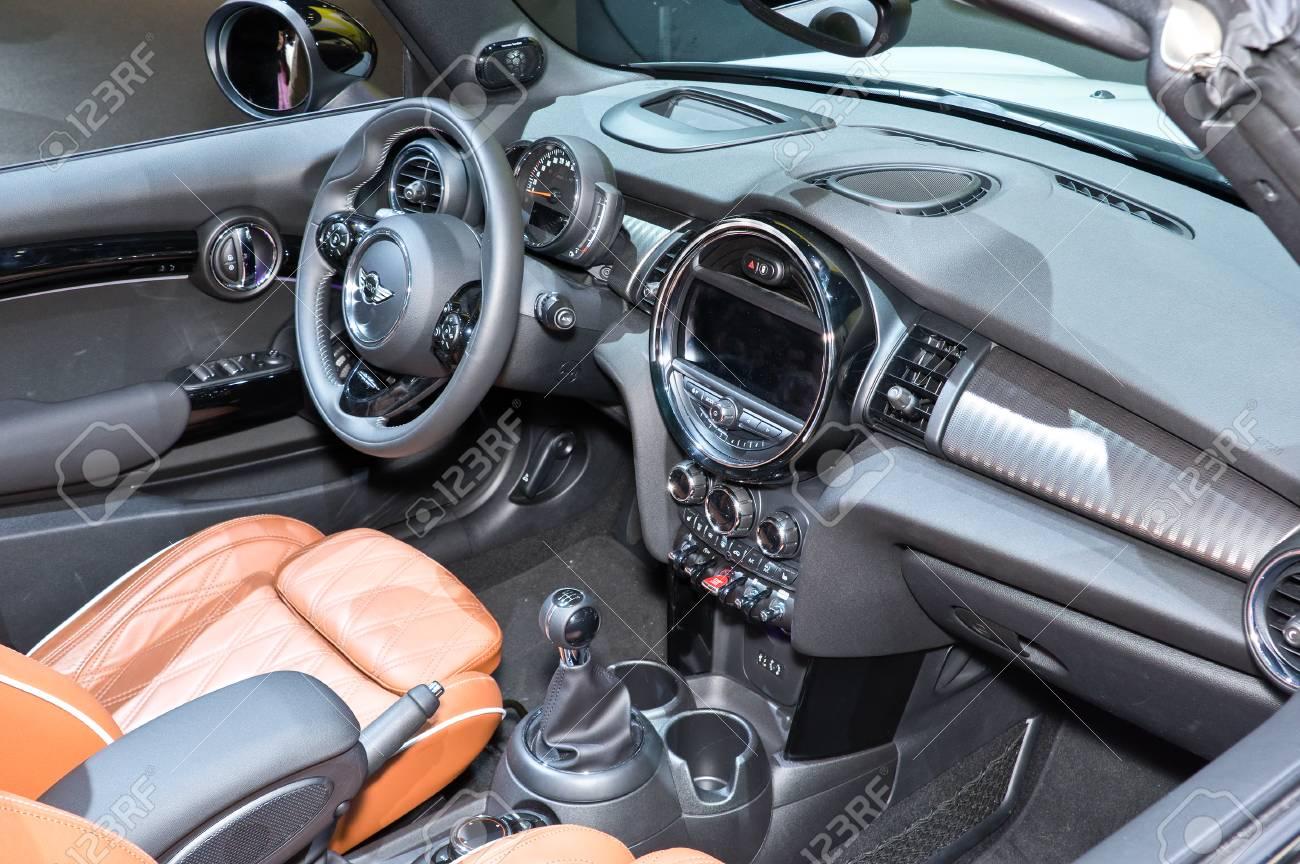 frankfurt-september 20: interior of mini cooper cabrio at the
