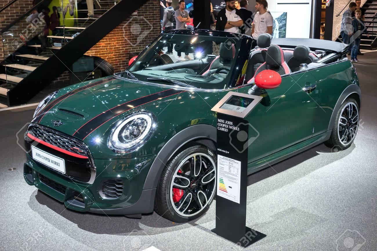 Frankfurt September 20 Mini John Cooper Works Cabrio At The Stock
