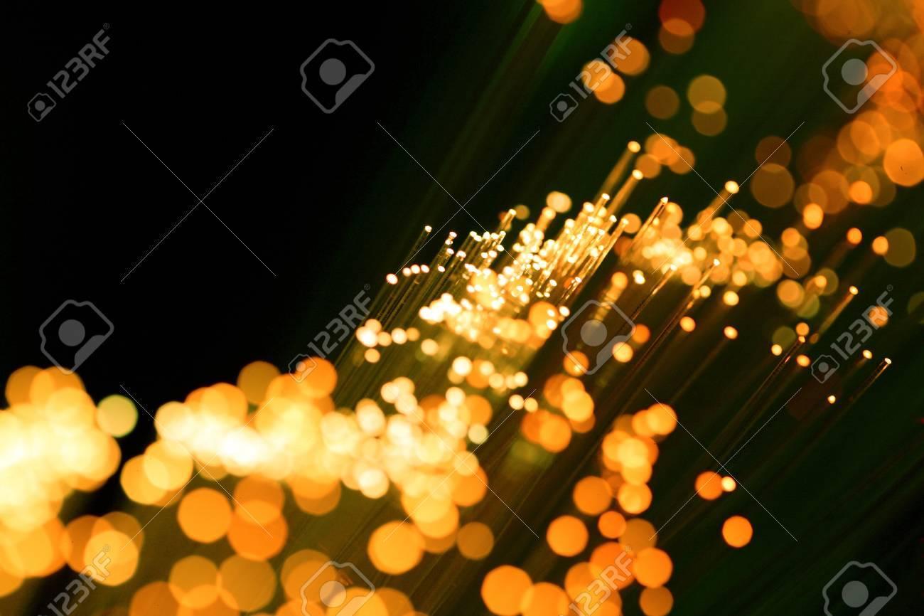 golden  yellow  fiber optic cables Stock Photo - 19411432