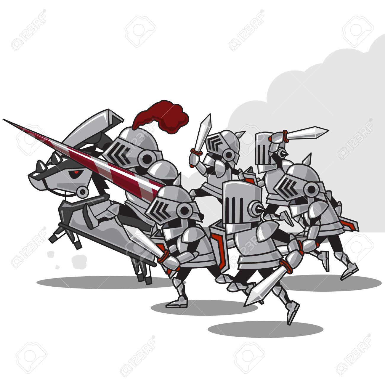 騎士の攻撃 ベクトル イラストのイラスト素材ベクタ Image 25503942