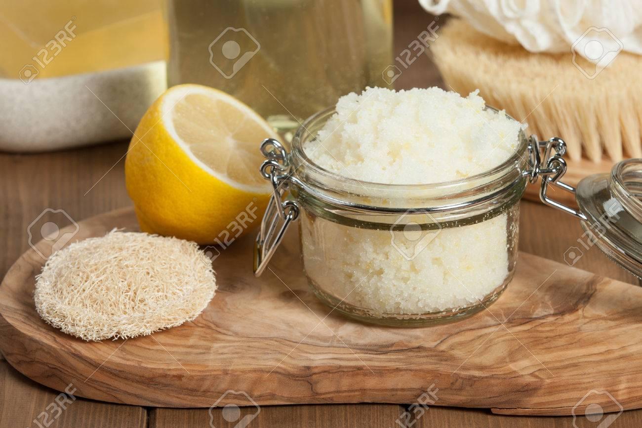 Handmade Lemon Scrub With Coconut Oil. Toiletries, Spa Set - 66075579