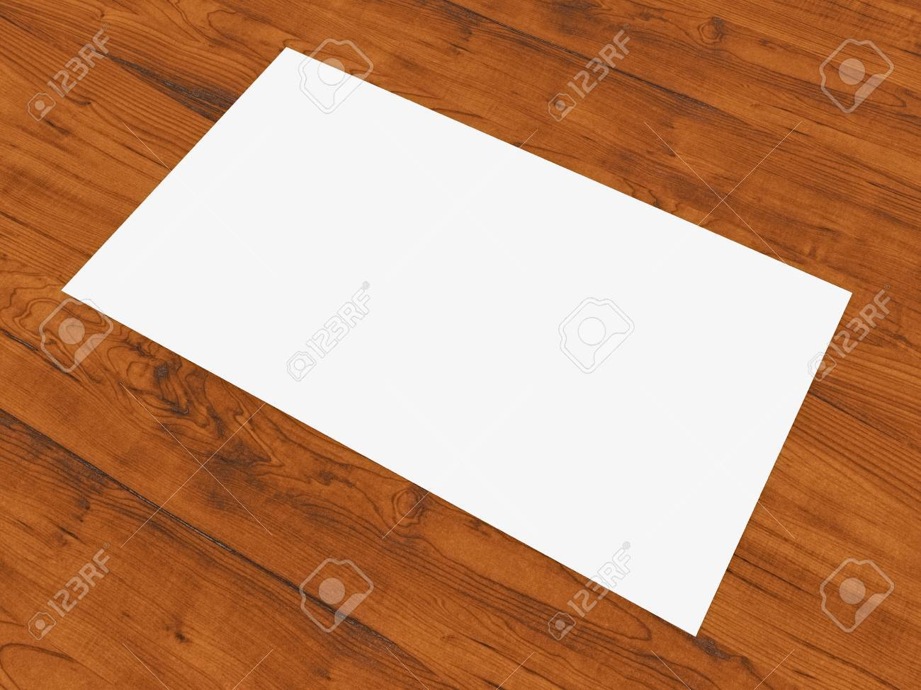 Blank Business Card Resting On Wood Surface Stock Photo Picture
