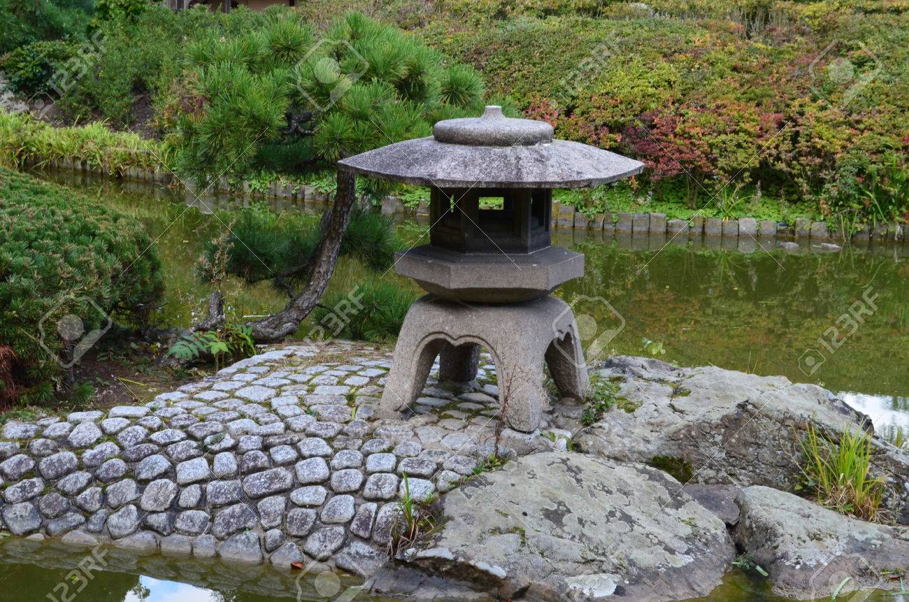 Mini Shrine In Japanese Garden In Bonn Rheinaue Stock Photo   46663980