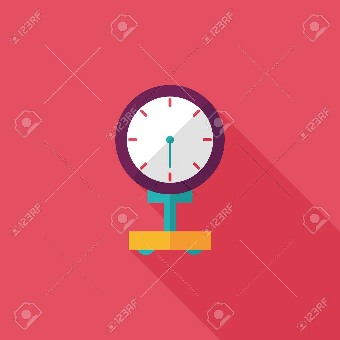 weight scale flat icon with long shadow - 31697947