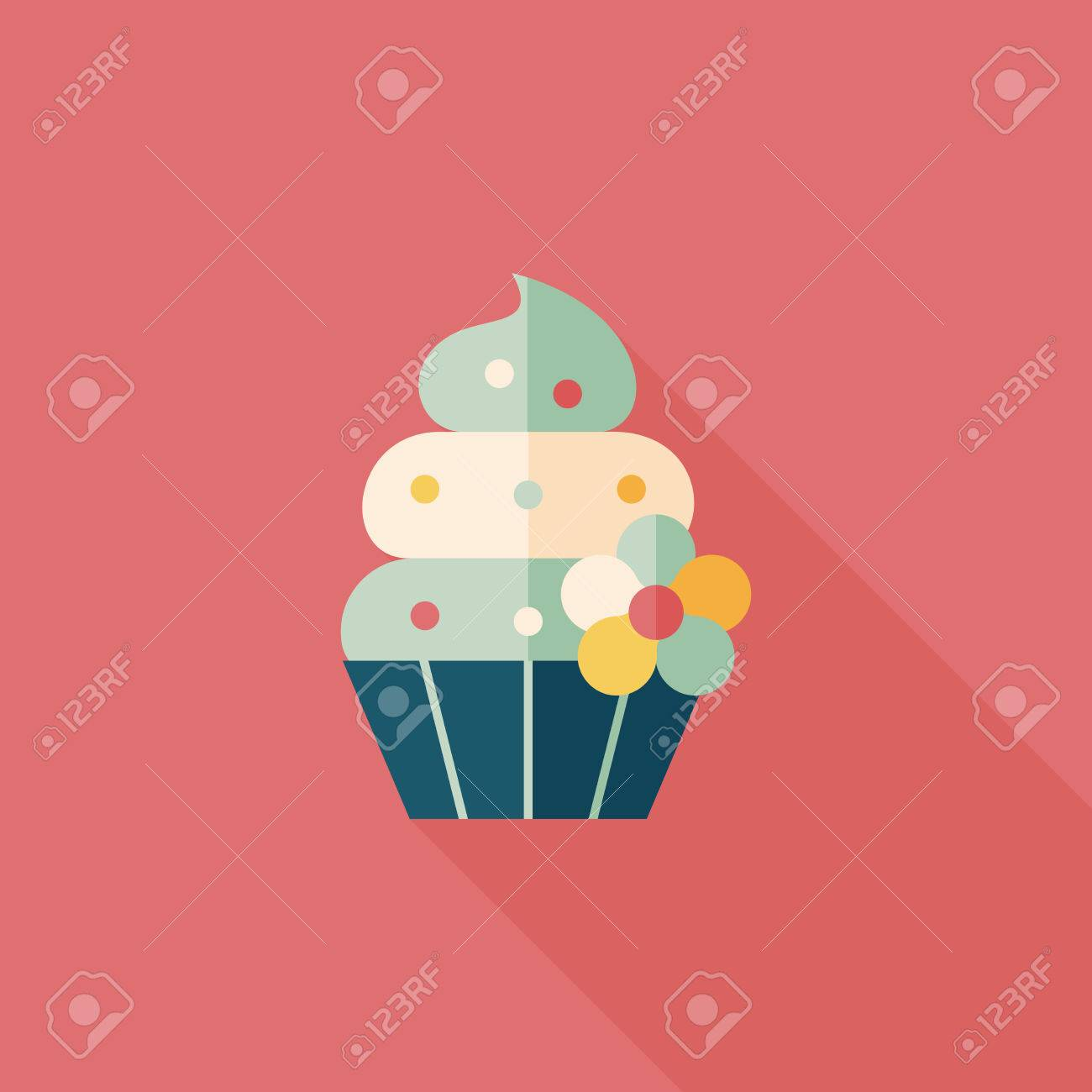 birthday cake flat icon with long shadow,eps10 - 31696730