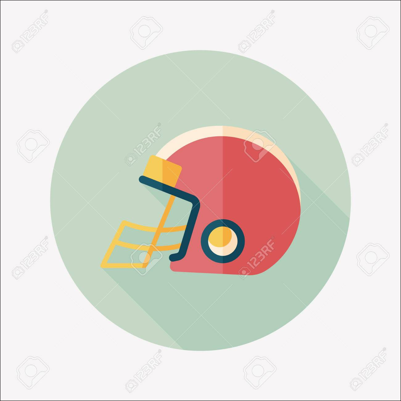 american football helmet flat icon with long shadow royalty free