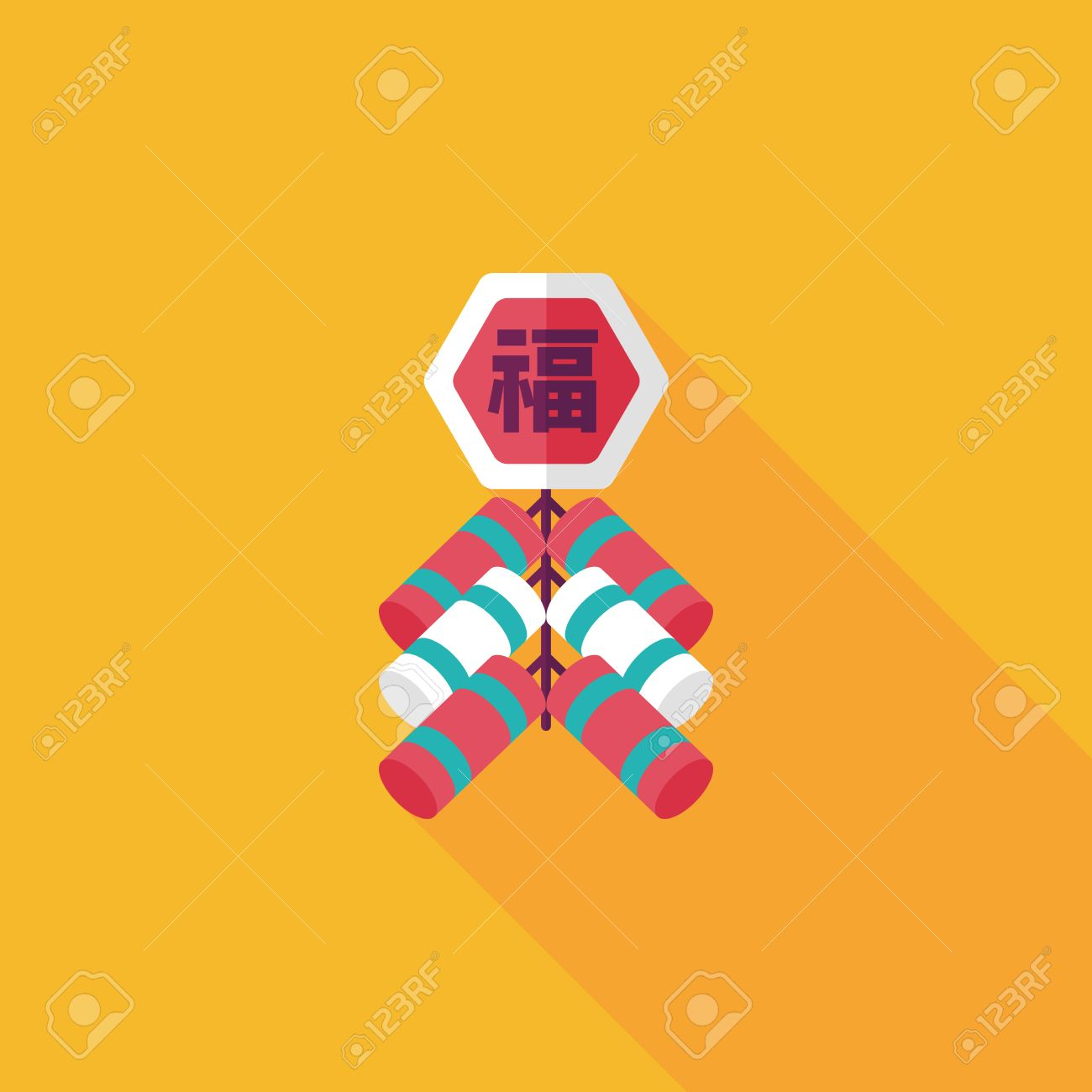 Chinese New Year Flach Symbol, Chinesisch Festival Couplets Mit ...
