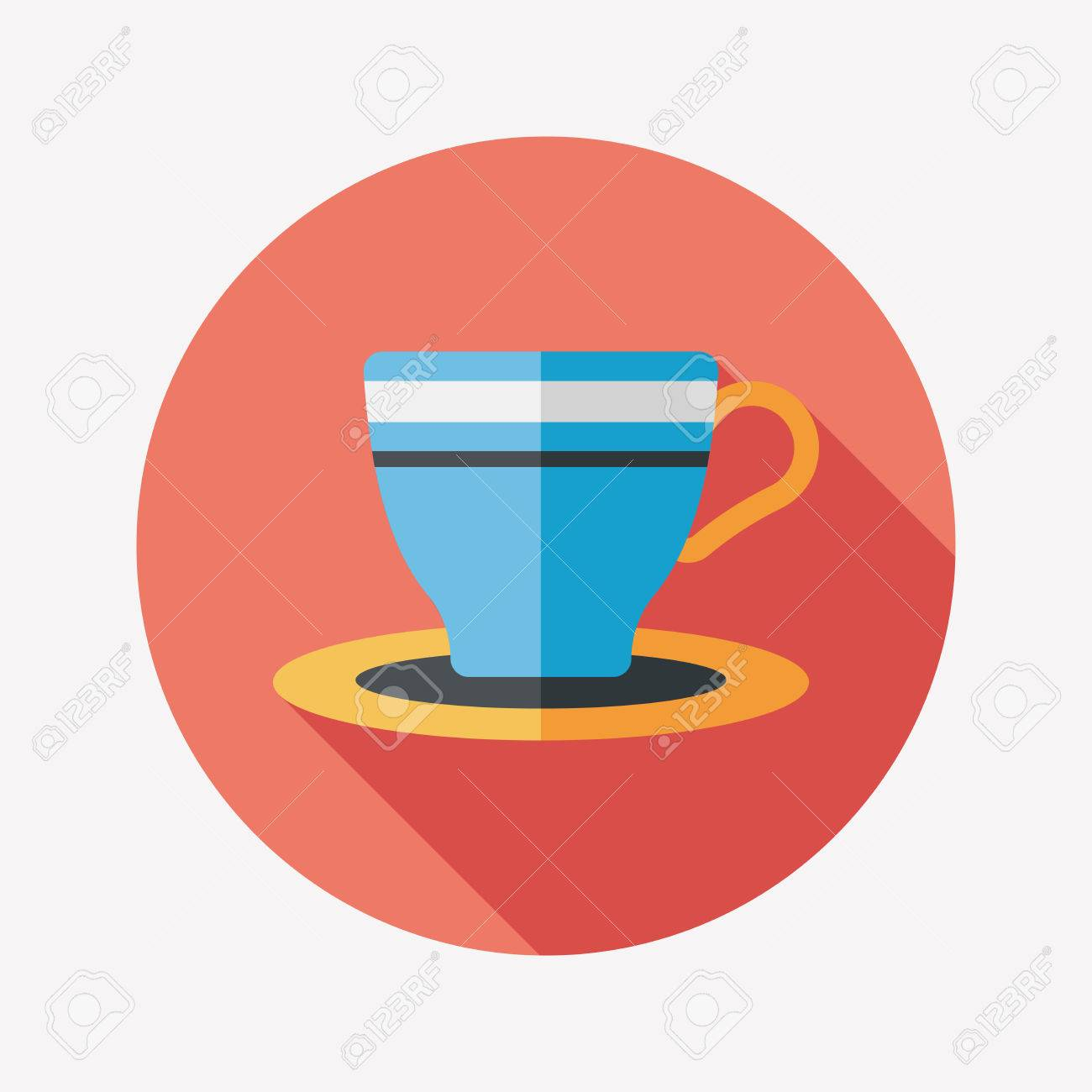 Coffee Cup Flat Icon Vector Coffee Cup Flat Icon