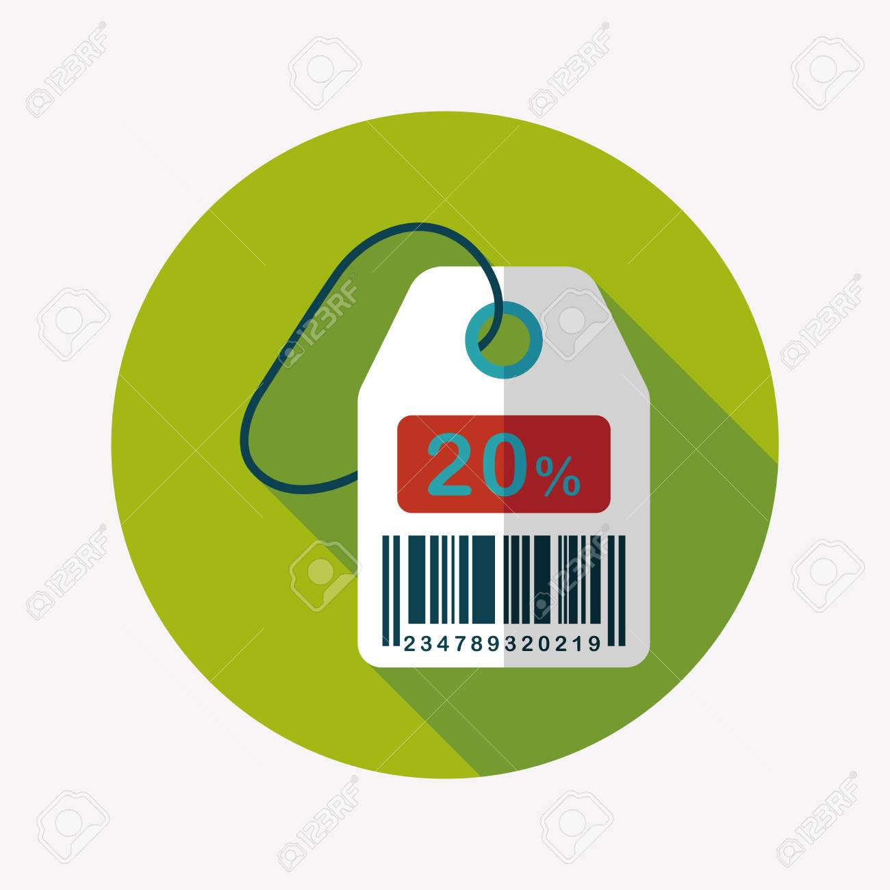 shopping sale price tag flat icon with long shadow,eps10 - 34107499