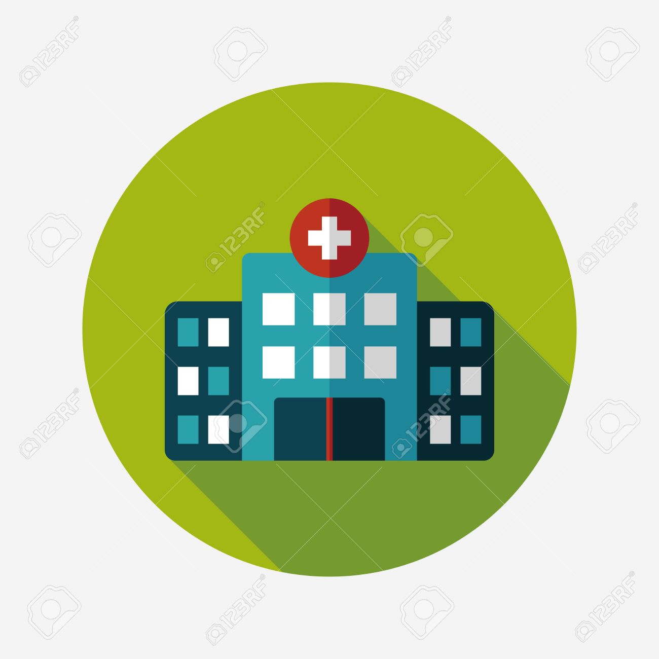 building hospital flat icon with long shadow,eps10 - 34898955