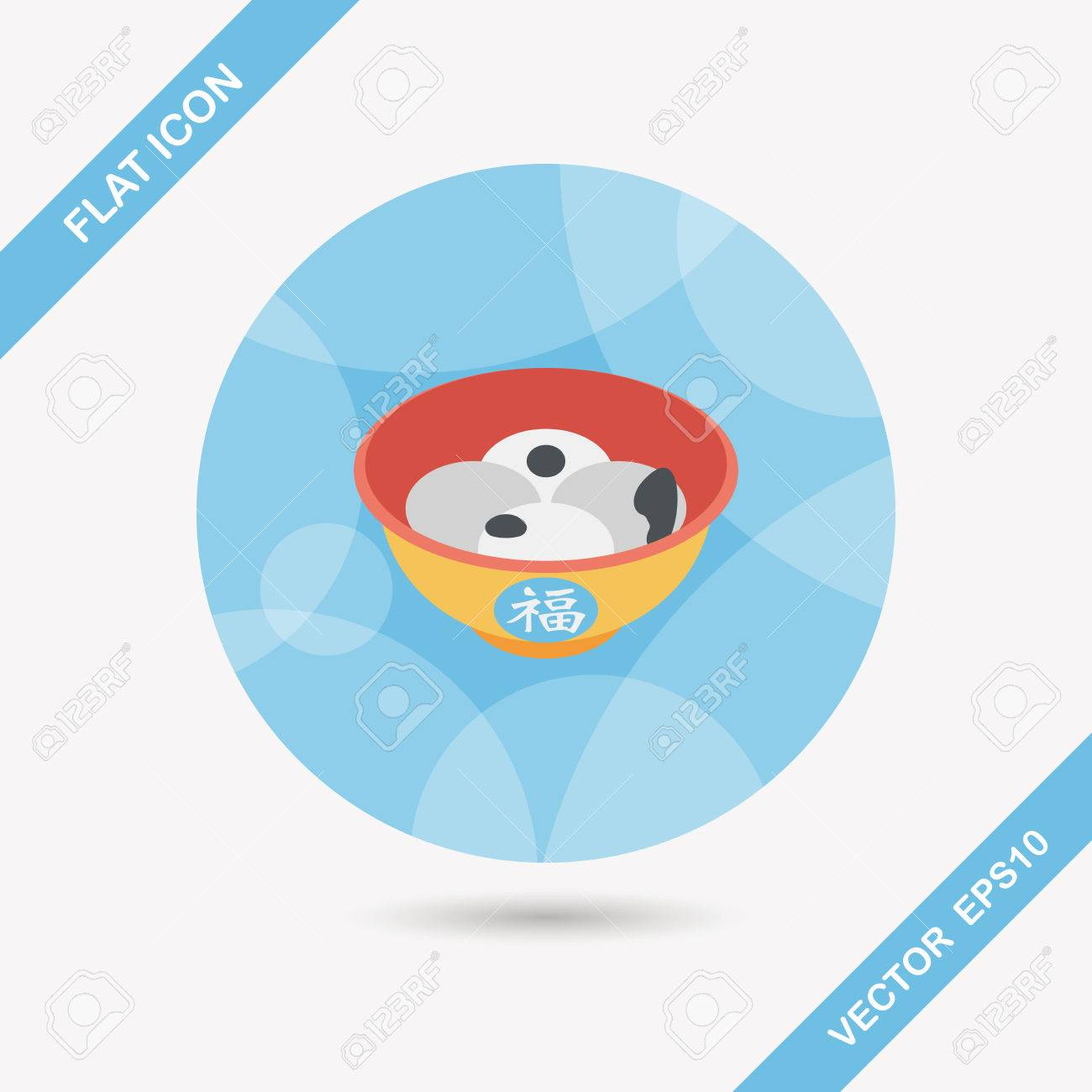 chinese new year tangyuan flat icon with long shadow stock vector 36031914 - How Long Is Chinese New Year