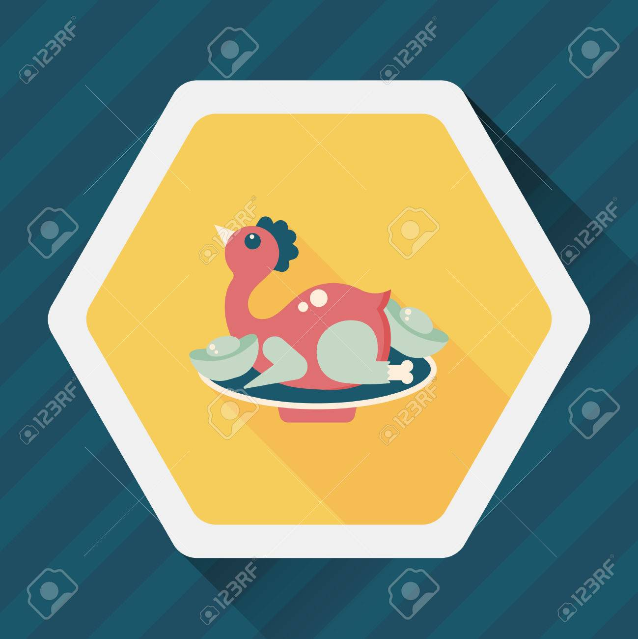 chinese new year flat icon with long shadow chinese chicken cuisine stock vector 52436913 - How Long Is Chinese New Year
