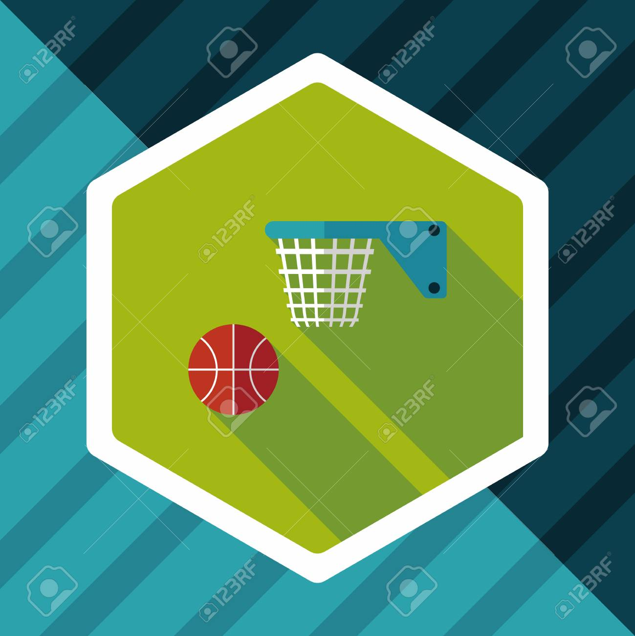 Basketball flat icon with long shadow,eps10 - 56929810
