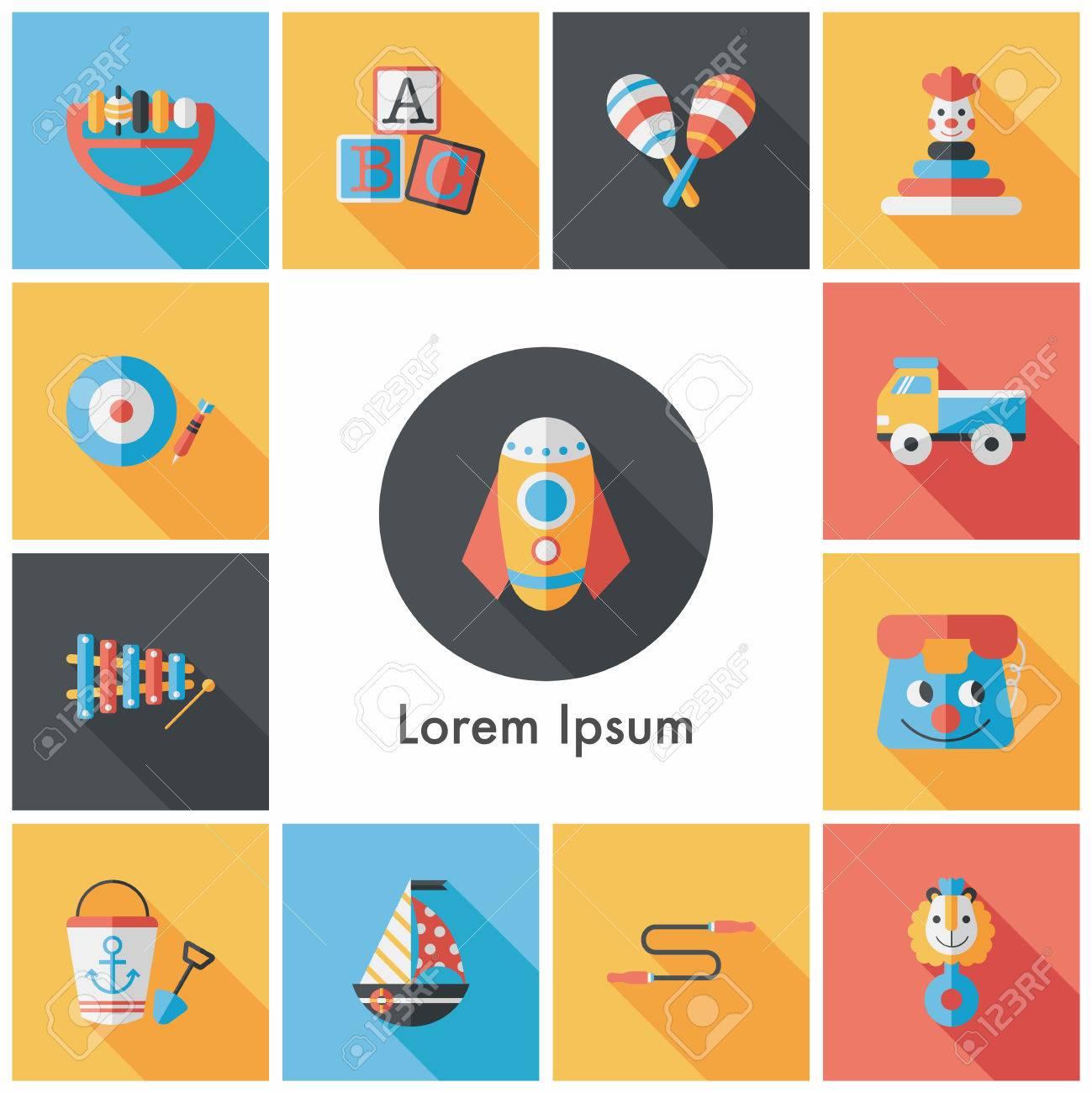 Children's toy icons set - 61231382