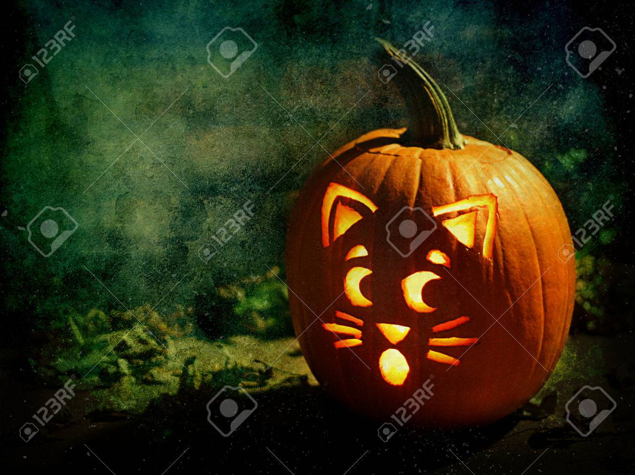 An Artistic Composition Of A Halloween Jack O Lantern With A Stock Photo Picture And Royalty Free Image Image 81193555
