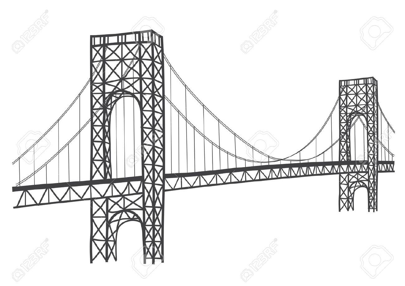 Dessin Du Pont De San Francisco dessin simple d'historique pont george washington à new york clip