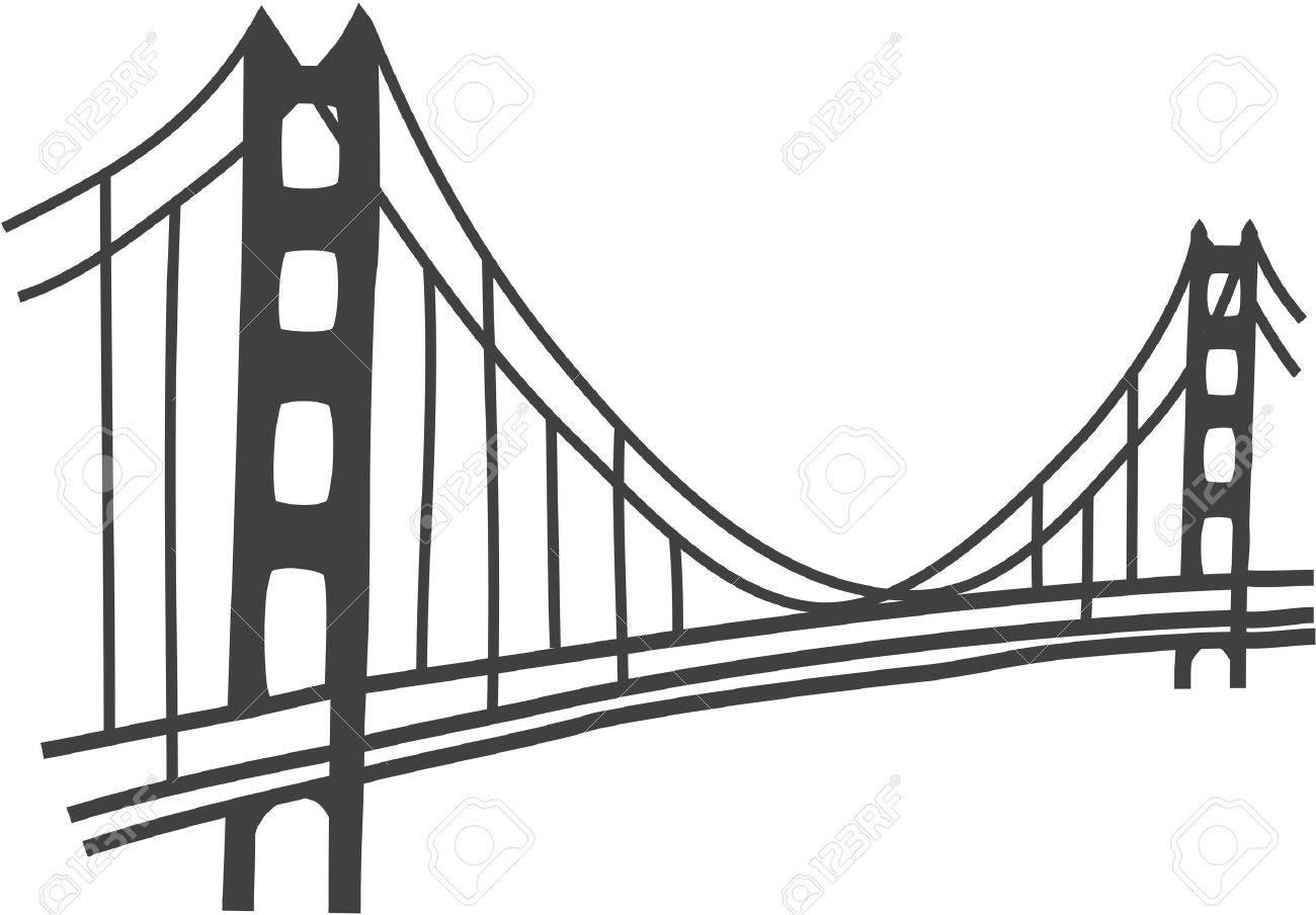 illustration of golden gate bridge san francisco royalty free rh 123rf com golden gate bridge skyline vector golden gate bridge vector free download