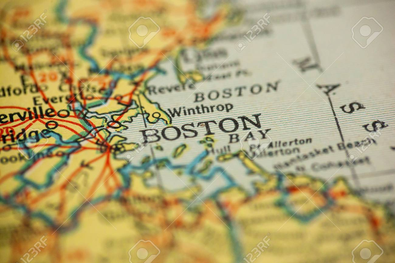 Picture of: Boston Massachusetts Is The Center Of Focus On An Old Map Stock Photo Picture And Royalty Free Image Image 110741816