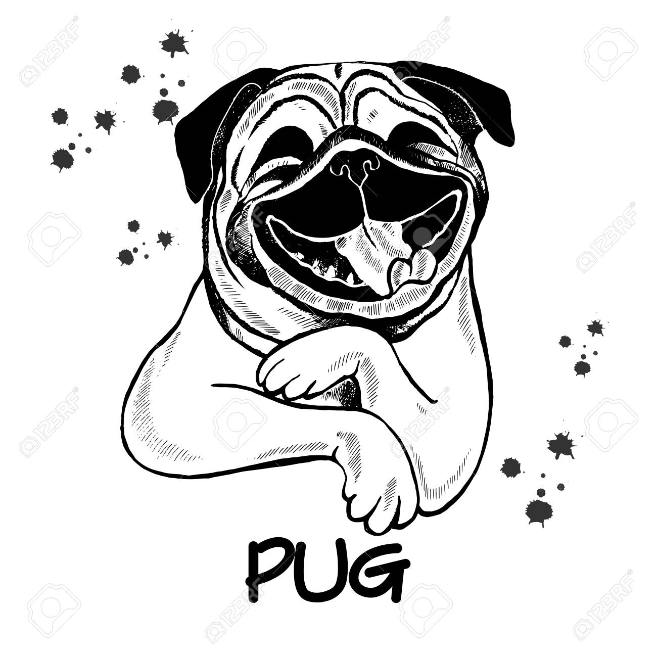 hand drawn sketch style pug vector illustration isolated on royalty free cliparts vectors and stock illustration image 93819945 hand drawn sketch style pug vector illustration isolated on
