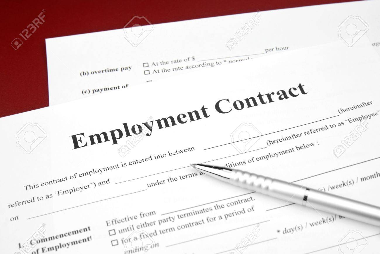permanent employment stock photos images royalty permanent permanent employment job employment contract red background and pen