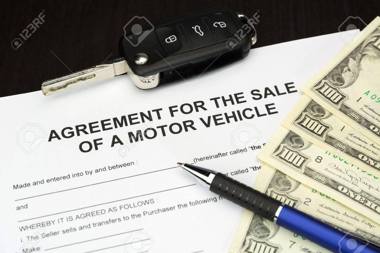 Vertragsformular Dokument Für Einen Verkauf Von Kraftfahrzeug Mit