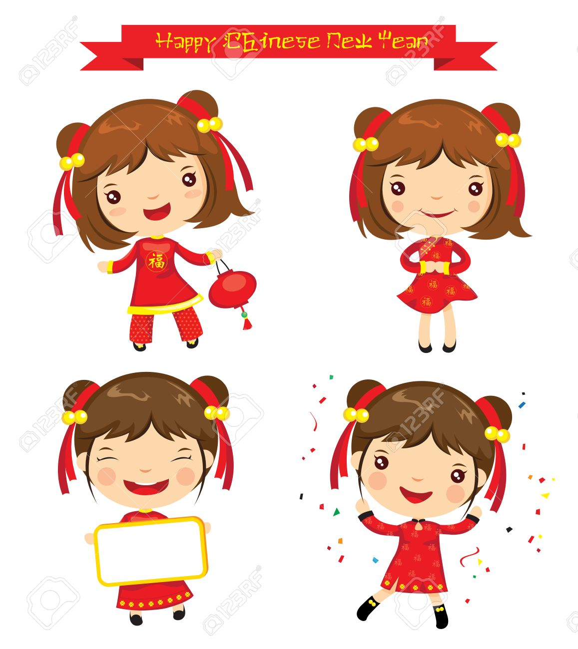 Celebrating chinese New Year Vector | Free Download