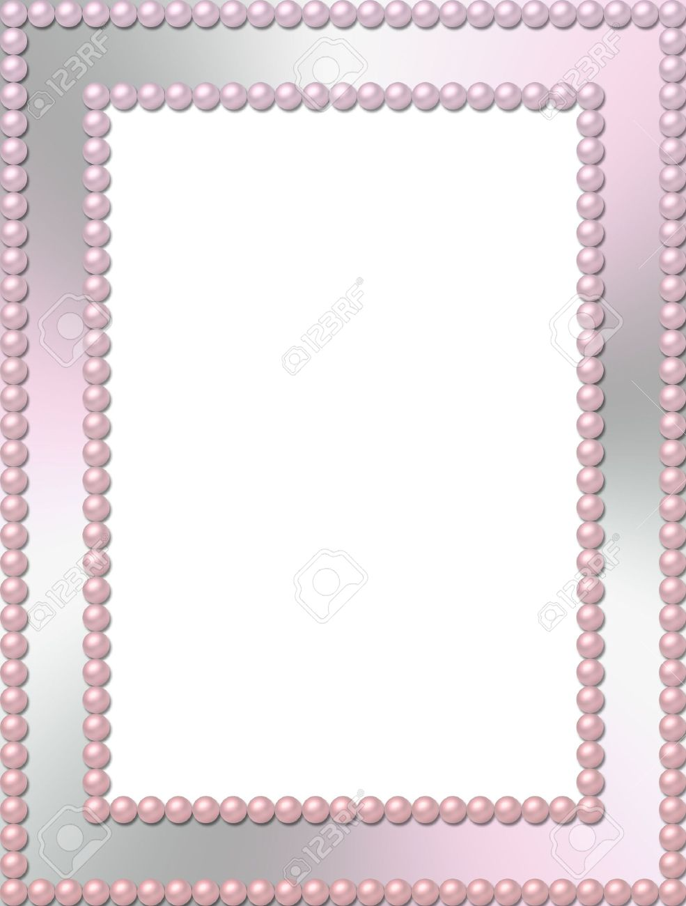 rectangular pearl frame stock photo 4021547
