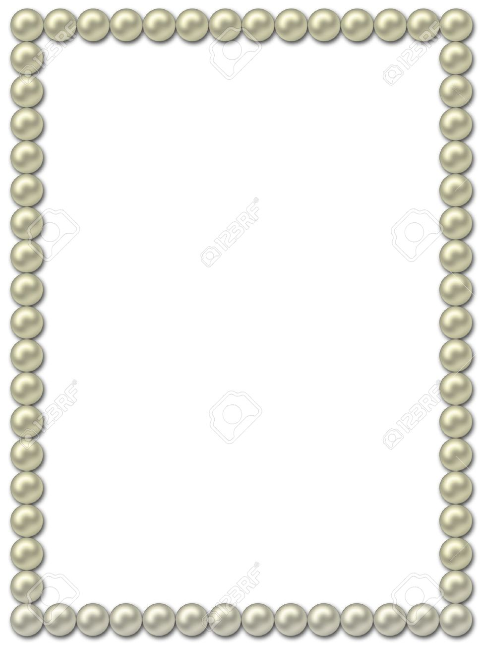 pearl frame necklace stock photo 4021546