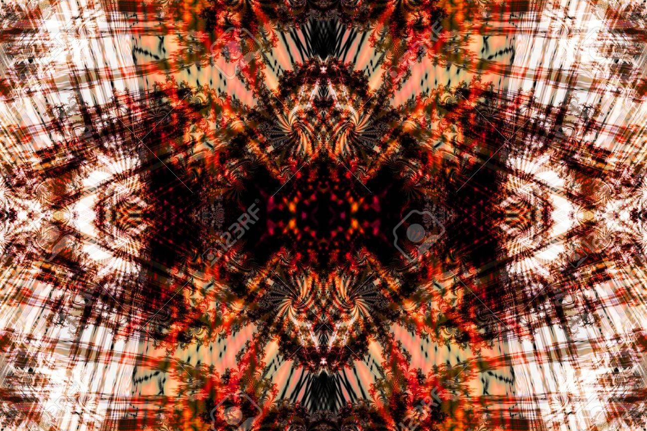 フラクタル対称性 1、温かみのあ...
