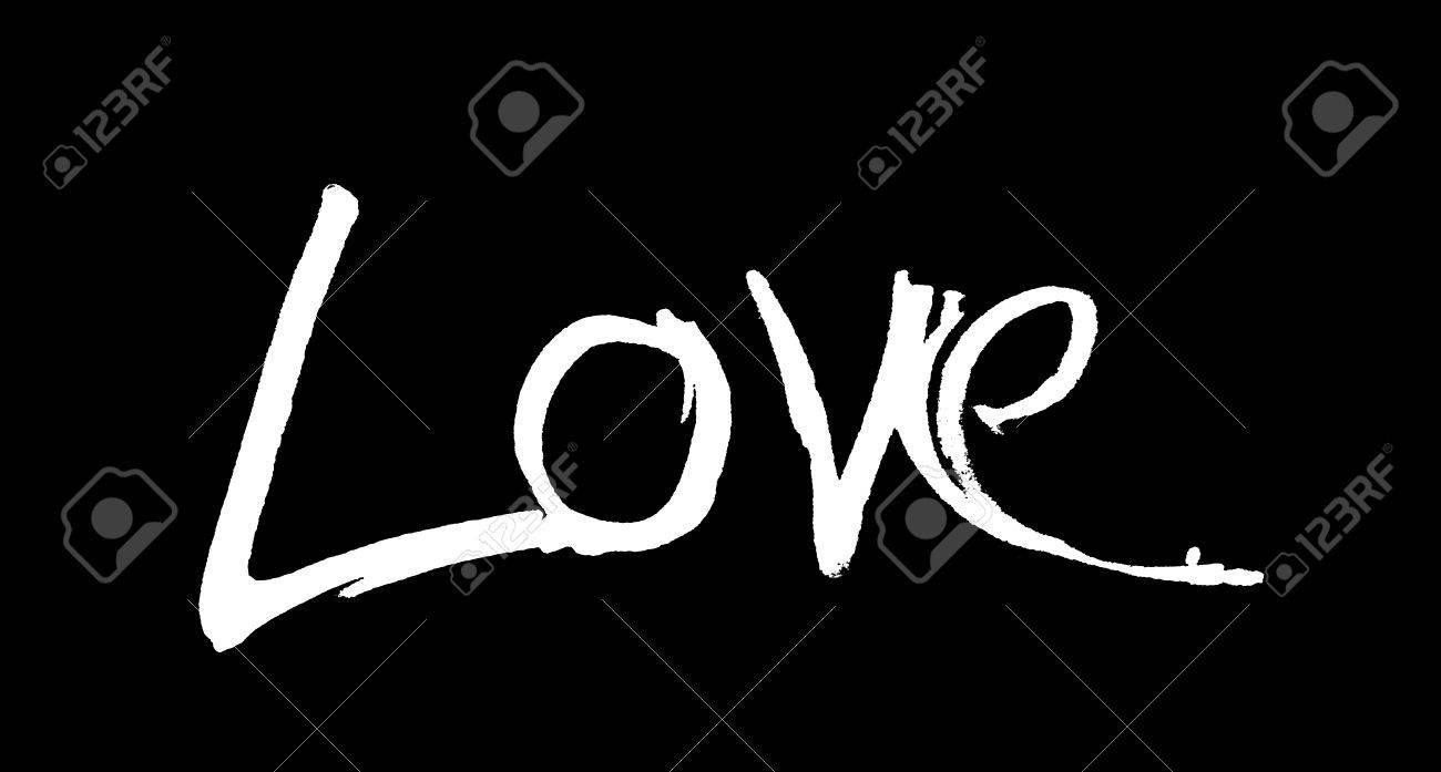 Love Hand Written The Word Love Written By Hand Artistic Word Love