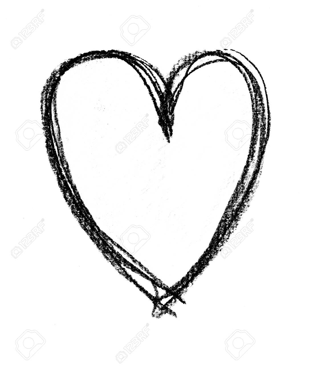 sketched outline of heart shape a heart shape outlined roughly rh 123rf com outlined heart copy and paste outline heart tattoo