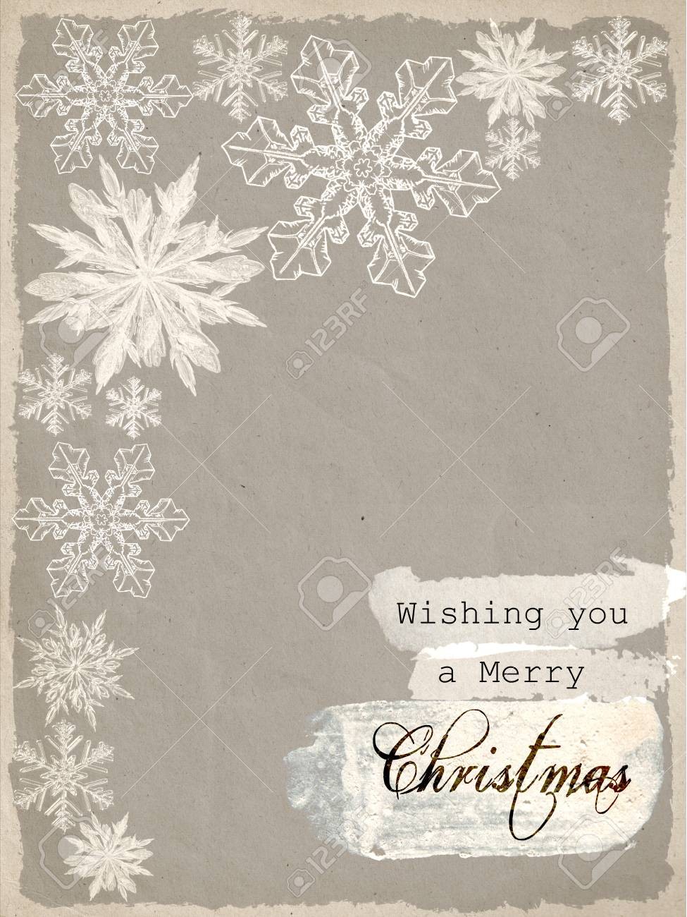 Christmas Card With The Words Wishing You A Merry Christmas In ...