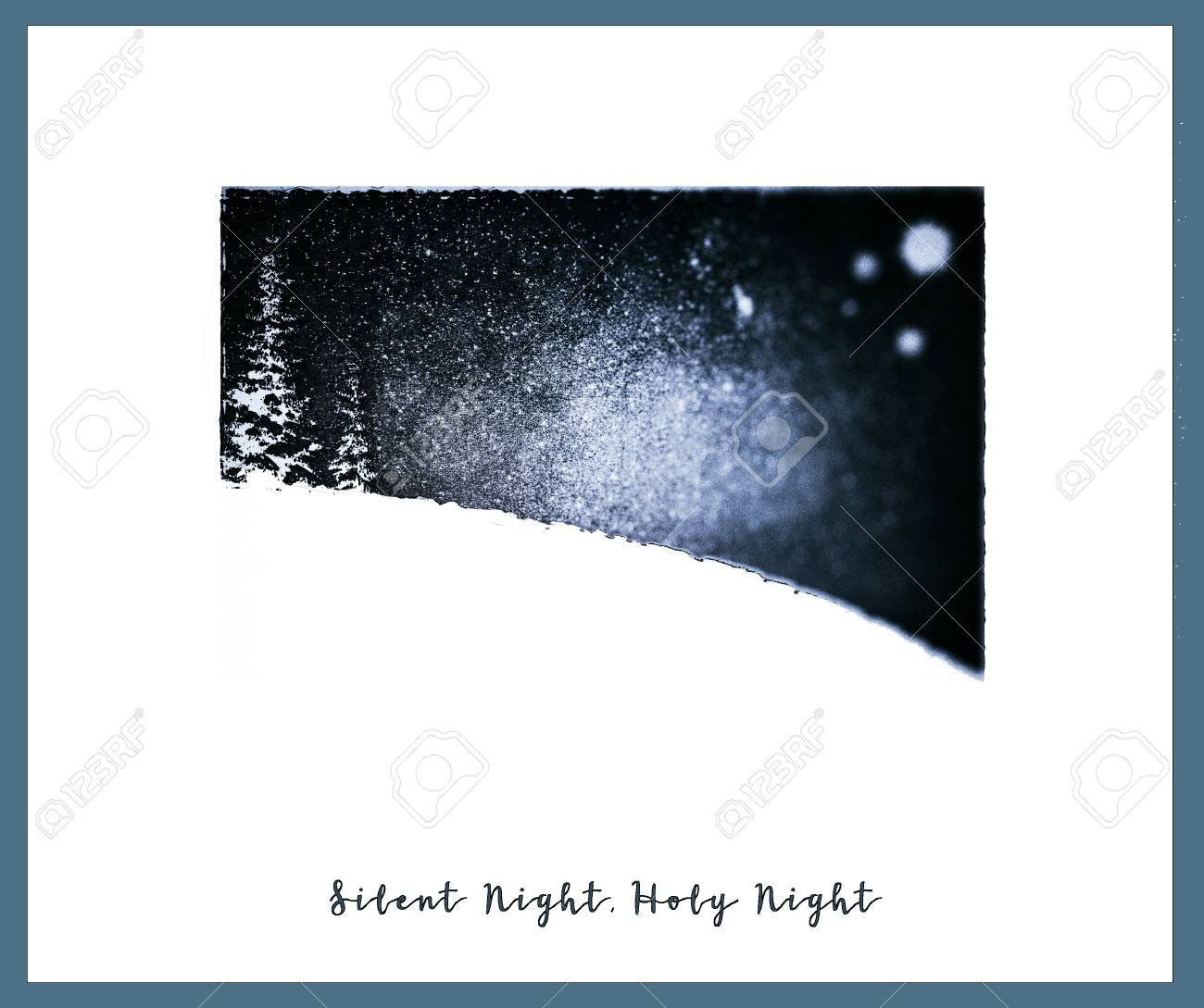 Simple Christmas Card With The Words Silent Night, Holy Night ...
