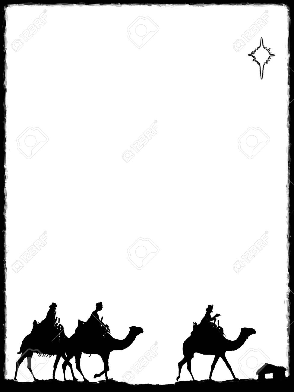 Three Wise Men on the way to Visit Jesus - Download Free Vectors, Clipart  Graphics & Vector Art