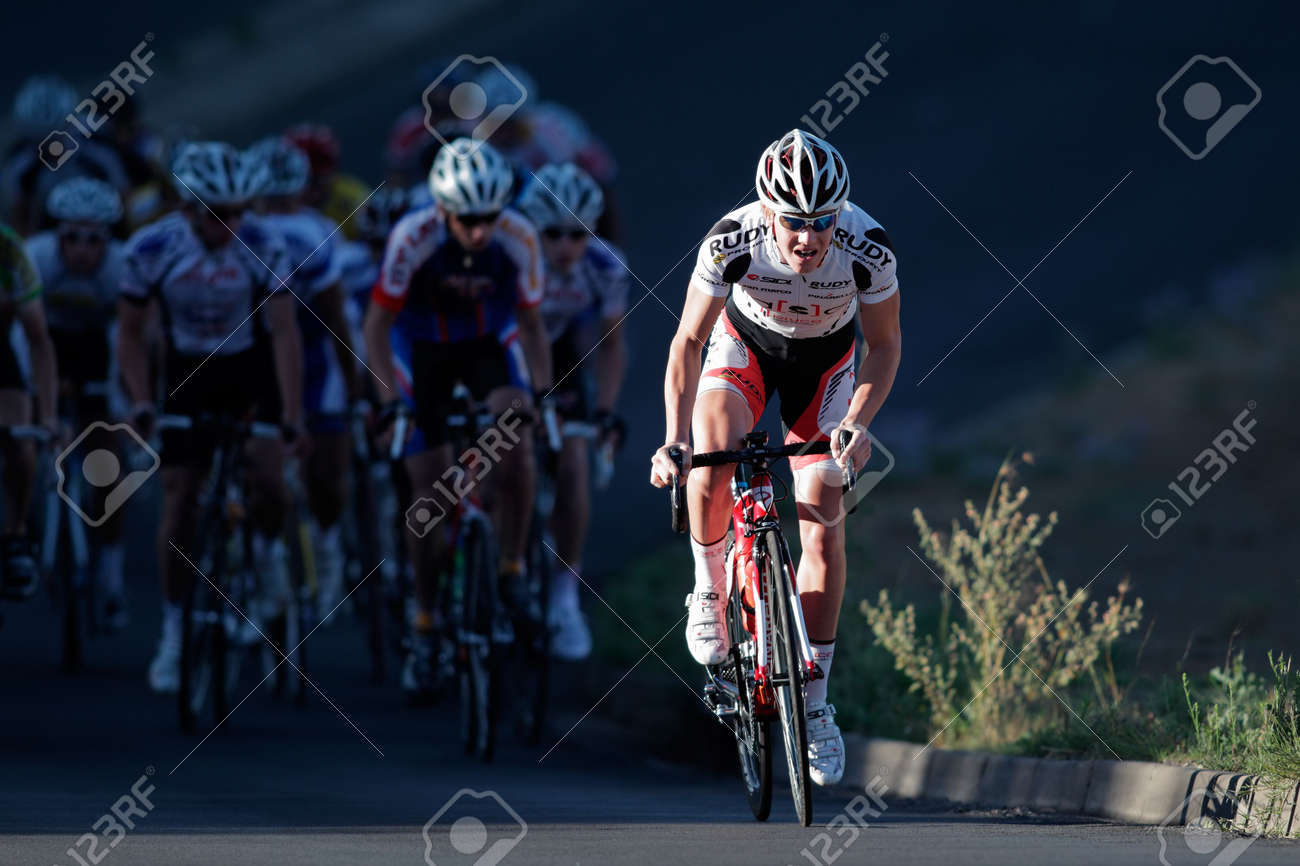 Bloemfontein, South Africa - November 7, 2010 - Cyclist during the annual OFM Classic cycle race  Stock Photo - 8194450