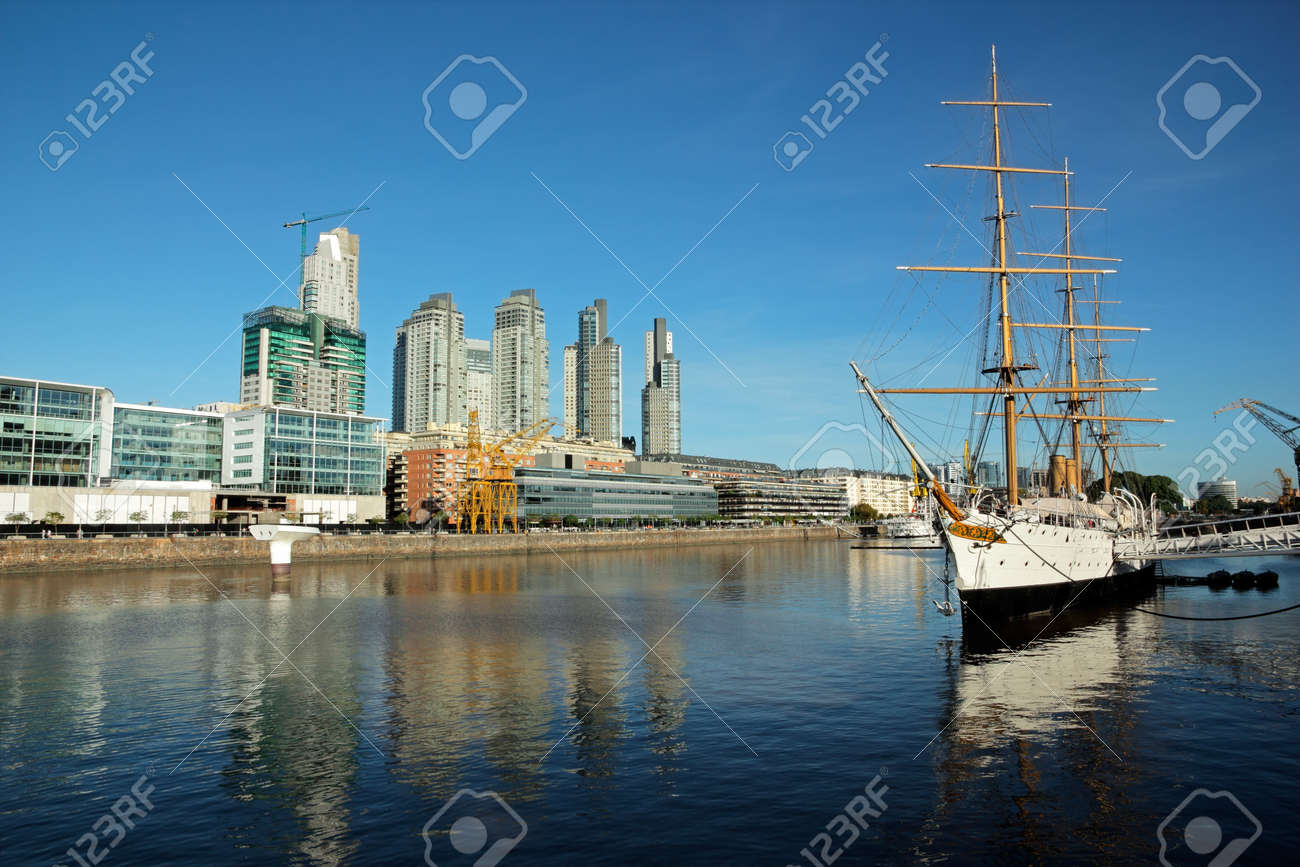 View of the old harbor area (Puerto Madero), Buenos Aires, Argentina Stock Photo - 10231453