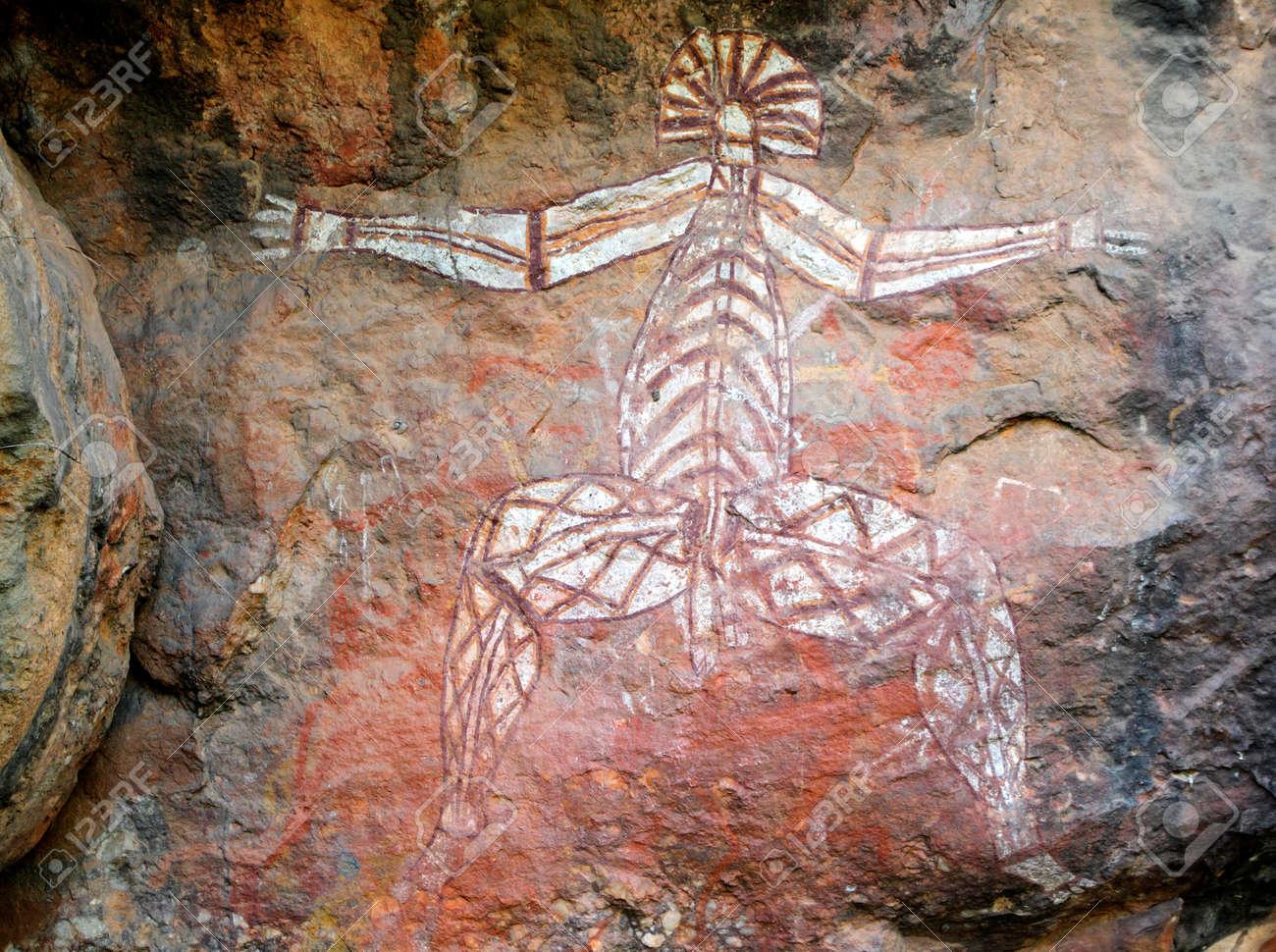 Aboriginal Rock Art At Nourlangie Kakadu National Park Northern